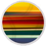 Fury Seascape Panoramic 2 Round Beach Towel by Amy Vangsgard