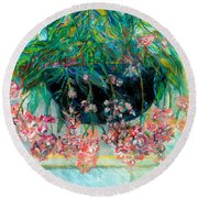 Fuschia Round Beach Towel