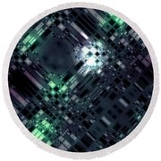 Future Metropolis Round Beach Towel
