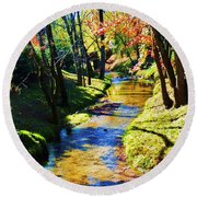 Future Reflections Round Beach Towel