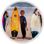Future Surfing Champs Round Beach Towel