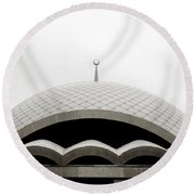 Futuristic Islamic Dome Round Beach Towel
