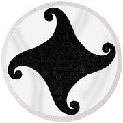 Fylfot-triskelion Round Beach Towel
