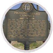 Ga-005-16 Provost Guard Campsite Round Beach Towel