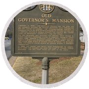 Ga-005-1b Old Governors Mansion Round Beach Towel