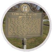 Ga-005-28 Cemetery Square Round Beach Towel