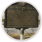 Ga-029-18 The Red And Black Round Beach Towel