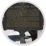 Ga-029-6 The Stoneman Raid Round Beach Towel