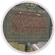 Ga-104-1 Joshua Hill Home Round Beach Towel