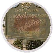 Ga-108-5 Eagle Tavern Round Beach Towel