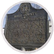Ga-73-4 Hart County Round Beach Towel