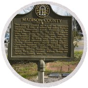 Ga-97-1 Madison County Round Beach Towel