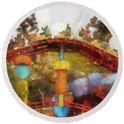 Gadget Go Coaster Disneyland Toontown Photo Art 02 Round Beach Towel