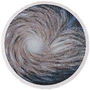 Galactic Amazing Dance Round Beach Towel by Georgeta  Blanaru