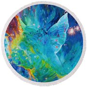Galactic Angel Round Beach Towel