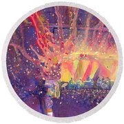 Galactic At Arise Music Festival Round Beach Towel