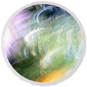 Galaxy Colors Round Beach Towel