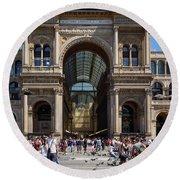 Galleria Vittorio Emanuele. Milan Round Beach Towel