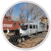 Galloping Goose 7 In The Colorado Railroad Museum Round Beach Towel