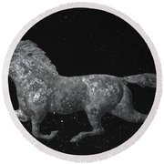 Galloping Through The Universe Round Beach Towel by John Stephens