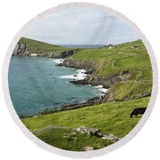 Atlantic Coast Of Ireland Round Beach Towel