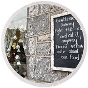 Galway Fight The Frills Round Beach Towel
