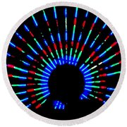Gama Ray Light Burst Abstract Round Beach Towel