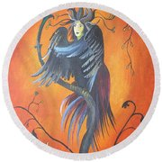 Gamaun The Prophetic Bird Round Beach Towel