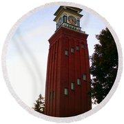 Gananoque Clock Tower Round Beach Towel