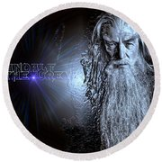 Gandalf The Grey Round Beach Towel