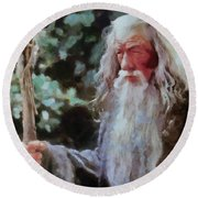 Gandalf The Grey Not Moses Mom Round Beach Towel