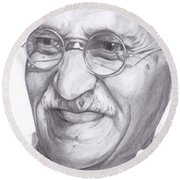 Gandhi Round Beach Towel