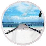 Gangplank Of Perfection Round Beach Towel