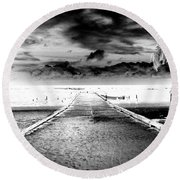 Gangplank Of Perfection Infrared Extreme Round Beach Towel