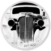 Gangster Car Round Beach Towel by Cat Connor