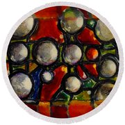 Gaps Between Worlds Round Beach Towel