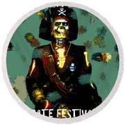 Gasparilla Pirate Fest 2015 Full Work Round Beach Towel