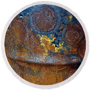 Garbage Can Abstract Round Beach Towel