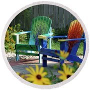 Garden Chairs Round Beach Towel