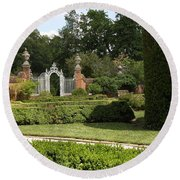 Garden Gate Governers Palace Round Beach Towel