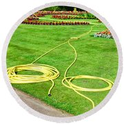 Garden Hosepipes Round Beach Towel