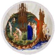 Garden Of Eden: Adam & Eve Round Beach Towel
