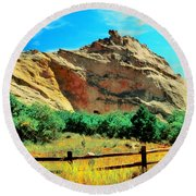 Garden Of The God's-colorado Round Beach Towel