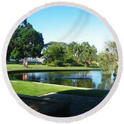 Sydney Botanical Garden Lake Round Beach Towel