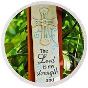 Garden Prayer Round Beach Towel
