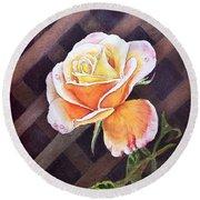 Garden Tea Rose Round Beach Towel