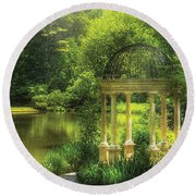 Garden - The Temple Of Love Round Beach Towel