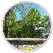 Garden View Series 09 Round Beach Towel