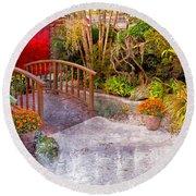 Garden View Series 25 Round Beach Towel