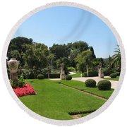 Garden Villa Ephrussi Round Beach Towel